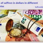 Prices of saffron in dollars in different countries