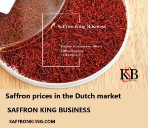 Saffron prices in the Dutch market