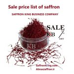 Sale price list of saffron
