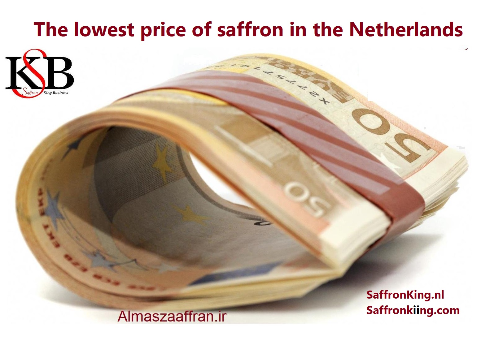 The lowest price of saffron in the Netherlands