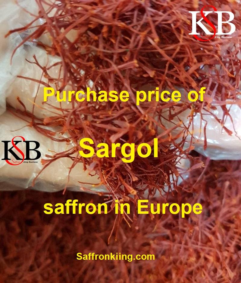 Purchase price of Sargol saffron in Europe