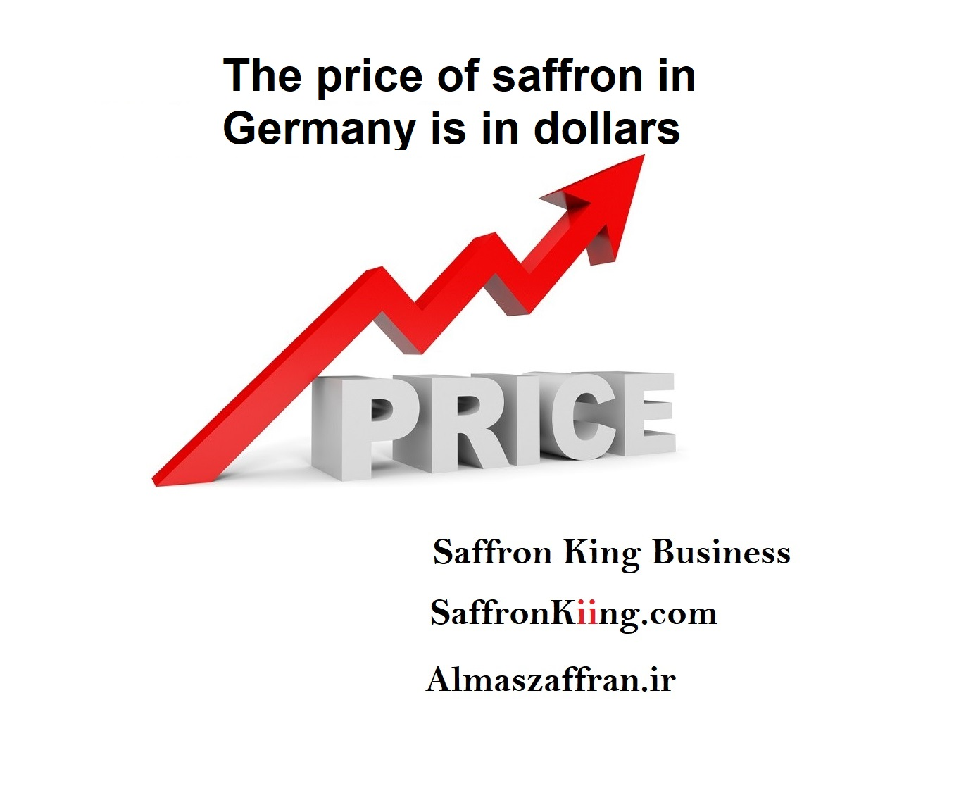 The price of saffron in Germany is in dollars