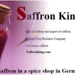 Saffron in a spice shop in Germany and high quality saffron