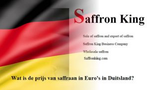 Wat is de prijs van saffraan in Euro's in Duitsland?