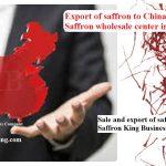 Price of saffron in China and saffron exports